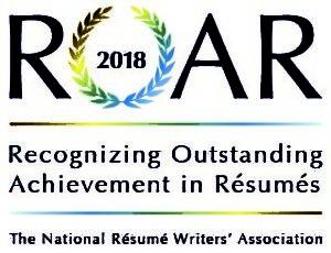 2018 Award Winning Resume logo