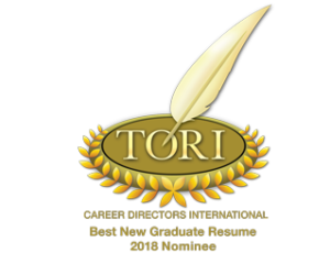 TORI Toast of the Resume Industry award nominee